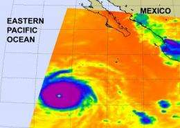 NASA infrared imagery shows well-defined eye in Category 5 Celia