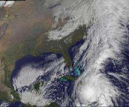 GOES-13 Satellite sees Hurricane Tomas lashing Haiti and eastern Cuba today