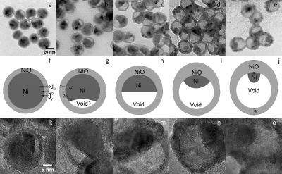 Study shows that size affects structure of hollow nanoparticles