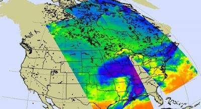 NASA Satellite Captures U.S. 'Big Chill'