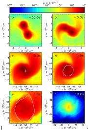 Astronomers simulate how white dwarf stars merge and become a supernova