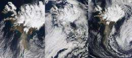 2 NASA Satellites Capture Last 3 Days of Eyjafjallajokull's Ash Plume