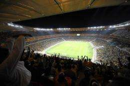 A general view of the Soccer City Stadium