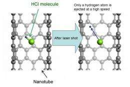 NEC's 'Earth simulator' succeeds in prediction of photochemical reactions inside carbon nanotubes