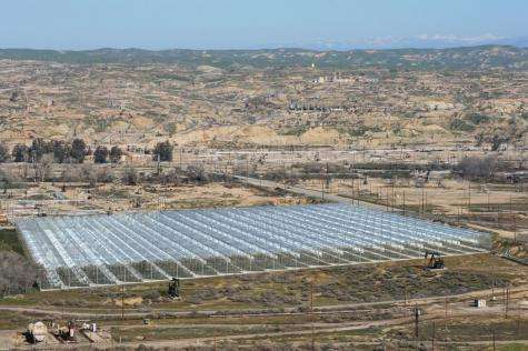 Greenhouse solar plant for cheaper extraction of oil