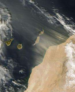 'A-Train' satellites search for 770 million tons of dust in the air