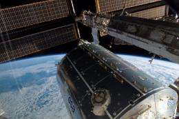 A view of the European Columbus module at the International Space Station