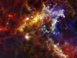 Baby stars in the Rosette cloud