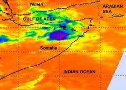 Bandu begone: Tropical Cyclone 2A fading in Somalia