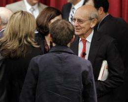 Breyer says justices must adapt to Facebook world (AP)