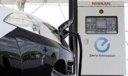 Car giant Nissan is touting its electric cars as a step forward from petrol-electric hybrids