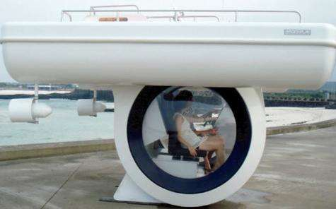 Ego Compact Semi Submarine allows for underwater exploration for the lay person