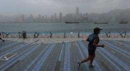 Hong Kong's famed skyline and harbour is often shrouded in a blanket of haze