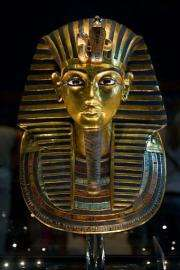 King Tutankhamun's golden mask displayed at the Egyptian museum in Cairo in 2009