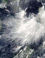 NASA's Aqua Satellite sees Tropical Storm Conson now in South China Sea