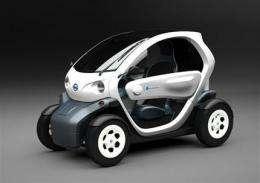 Nissan shows tiny electric concept vehicle (AP)