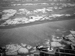 Opportunity rover halfway point reached