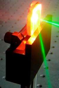 Plastic laser detects tiny amounts of explosives