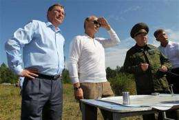Putin visits site of Russia's new launch center (AP)