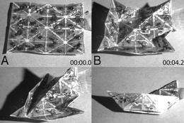 Shape-shifting sheets automatically fold into multiple shapes (w/ Video)