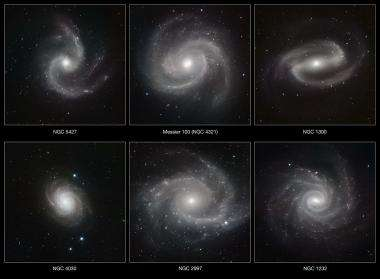Spiral galaxies stripped bare