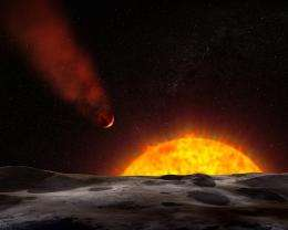 Superhot Planet Likely Possesses Comet-like Tail