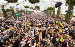 The beer halls, where up to 7,000 revellers can gather, are usually poorly ventilated