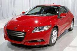 The new Honda CR-Z is on display at the North American International Auto Show