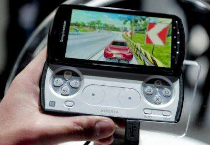 The phone will go on sale in April, and downloadable games for 5-10 euros