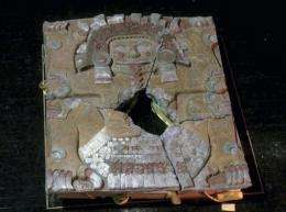 """The recently uncovered monolith of the Aztec goddess """"Tlaltecuhtli"""" in Mexico City"""