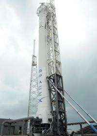The SpaceX launch pad at the Kennedy Space Center in Cape Canaveral, Florida