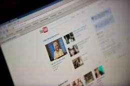 The YouTube homepage