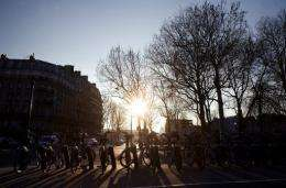 Velib bicycles, a public bike rental service