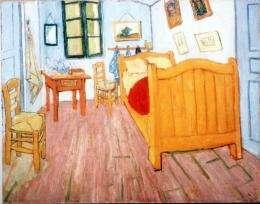 "Vincent Van Gogh's ""The Bedroom"", painted in October 1888"
